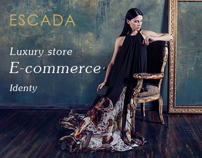 Escada evening dresses - eCommerce website