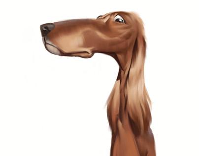 Dog caricatures