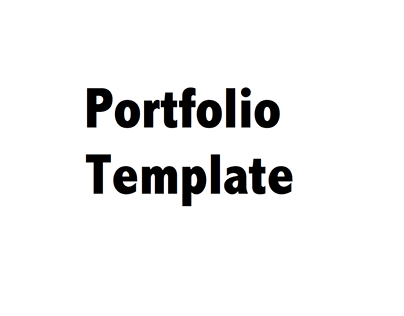 Portfolio Template (for students)