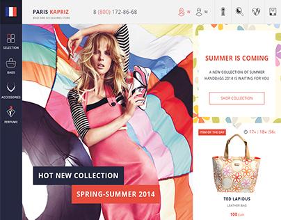 ParisKapriz - eCommerce website, Icon design