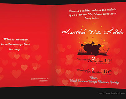 Story Themed Wedding Cards