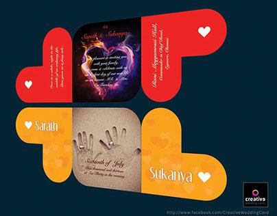 Shape Themed Wedding Cards