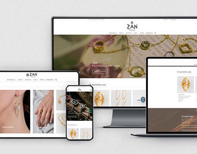 ZAN Jewels | E-shop development - Woocommerce