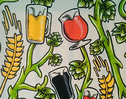 """Mural para """"Club de Cervezas"""" 01"""