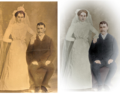 Restoration and colorisation of photograph (c. 1910)