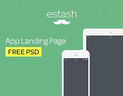 estash - App Landing Page  (FREE PSD)