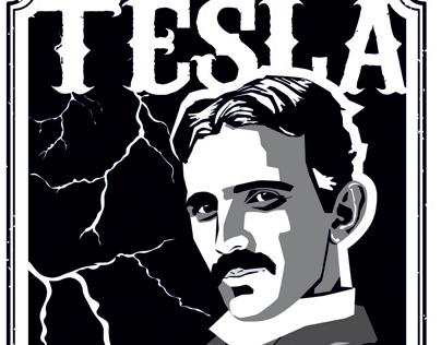 Nikola Tesla - constructivist style