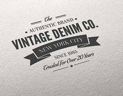 Customizable Retro Style Typography