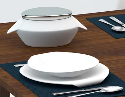 Wave dinnerware