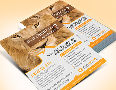 Creative Real Estate Agent Flyer Template