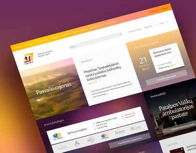 Regional Business portal. Flat responsive design and UX