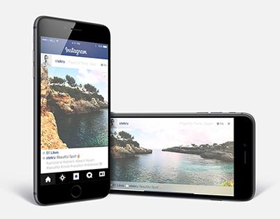 Instagram Panorama Concept