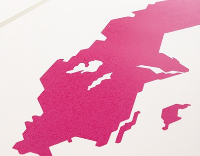 Länder | Maps - Screen printed posters