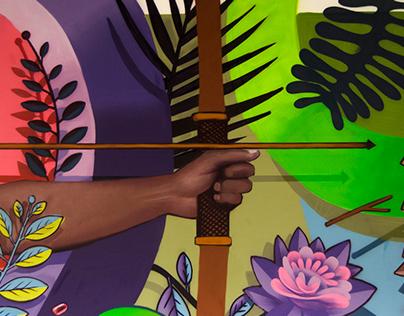"ARTEZ - ""Hunter"" mural"