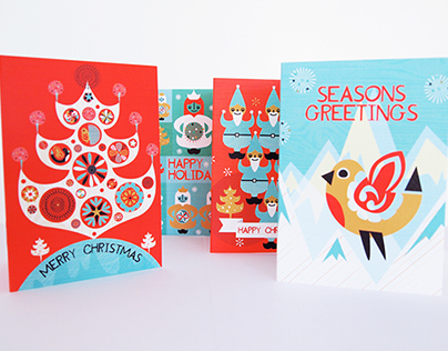 Festive Yule Christmas Card Pack