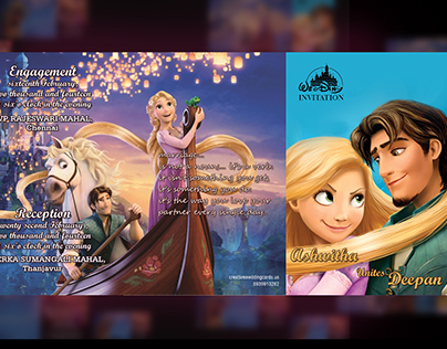 Tangled Themed Wedding Cards