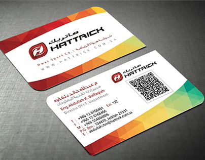 Hattric Sports Co. Business Card