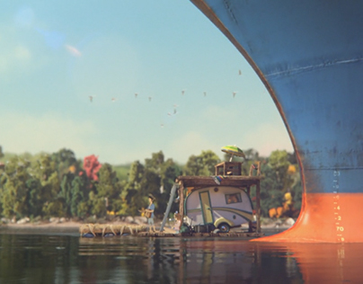 Coca Cola - MELLO YELLO Animated River Journey