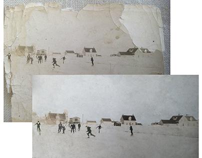 Restoration & colorisation, ice hockey, Canada c. 1920