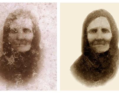 Restoration of a damaged photograph