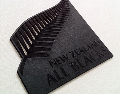 All Blacks business card