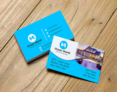 Hotel Business Card Design Template
