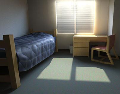 Dorm Room Rendering