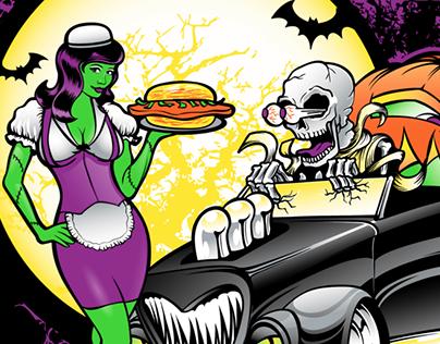 Edwards Drive-In Halloween Spooktacular Car Show