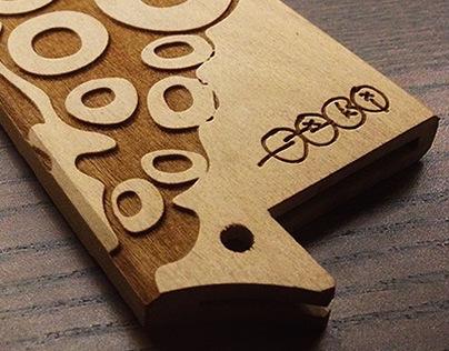 Laser Engraved Knife Saya