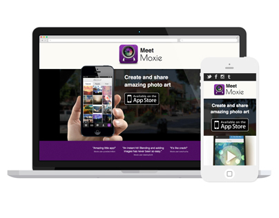 Moxie iPhone app website
