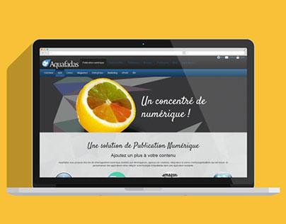 Maquette page Aquafadas