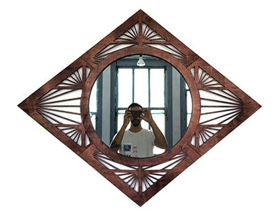 Laser Cut Wall Mirror