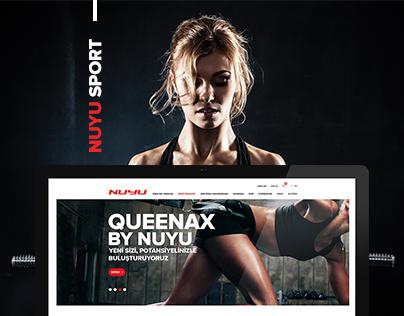 Nuyu Sport New Web Site Design