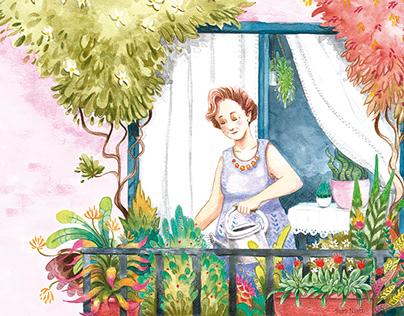 """Ilustraciones para el libro """"Una Margarita Blanca"""""""