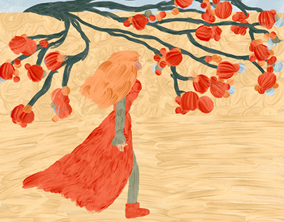 The tree awaited for the girl