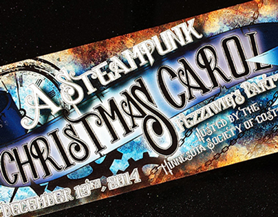 2014 A Steampunk Christmas Carol Ticket