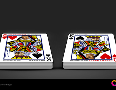 Playing Cards Themed Wedding Cards
