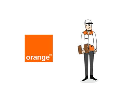 Orange illustrations