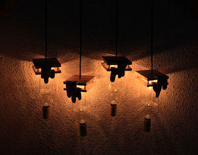 Mix Media Lamp