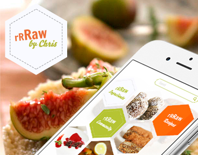 'rrRaw by Chris' Mobile App, UI & Graphic Design