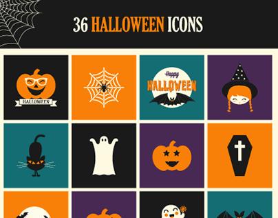 Freebie: Halloween Icon Set (PSD, AI & EPS)