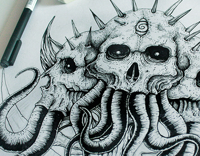 Lovecraftian Back Tattoo Project