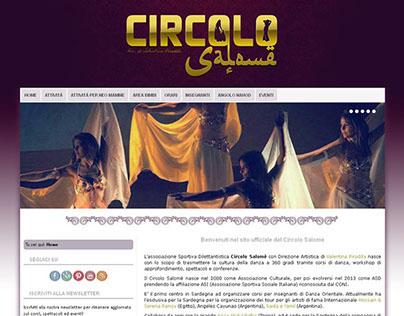 """Website for """"Circolo Salomè"""" dance school"""