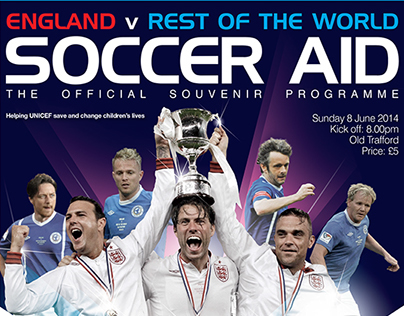 Soccer Aid Souvenir Programme