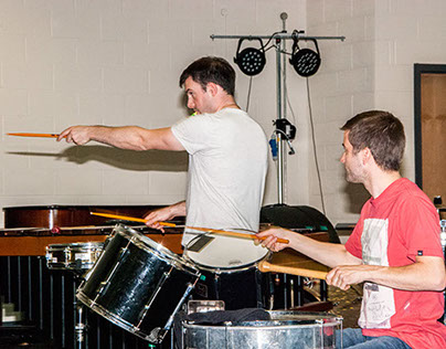 Percussion Workshop - O Duo, Leicester Grammar 02-10-14