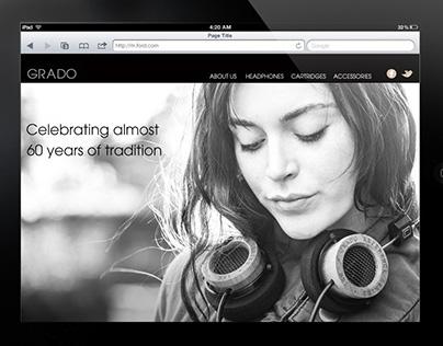 Grado Headphones  Site Design