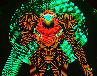 Neon Samus Light Art