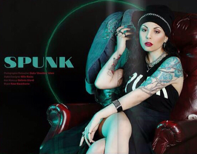 """SPUNK"" onDark Beauty Magazine - ISSUE 37 ""Street Beat"""