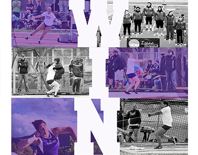 Winona state throwing poster