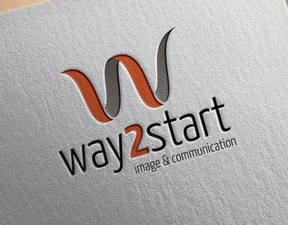 WAY2START - Logo design 2010